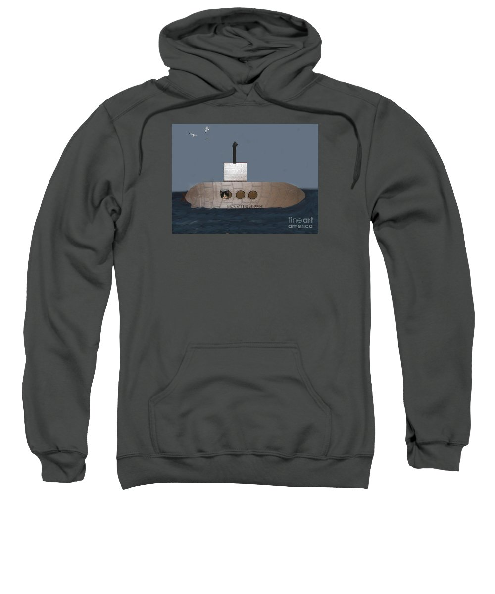 Children Sweatshirt featuring the photograph Teddy In Submarine by Reb Frost