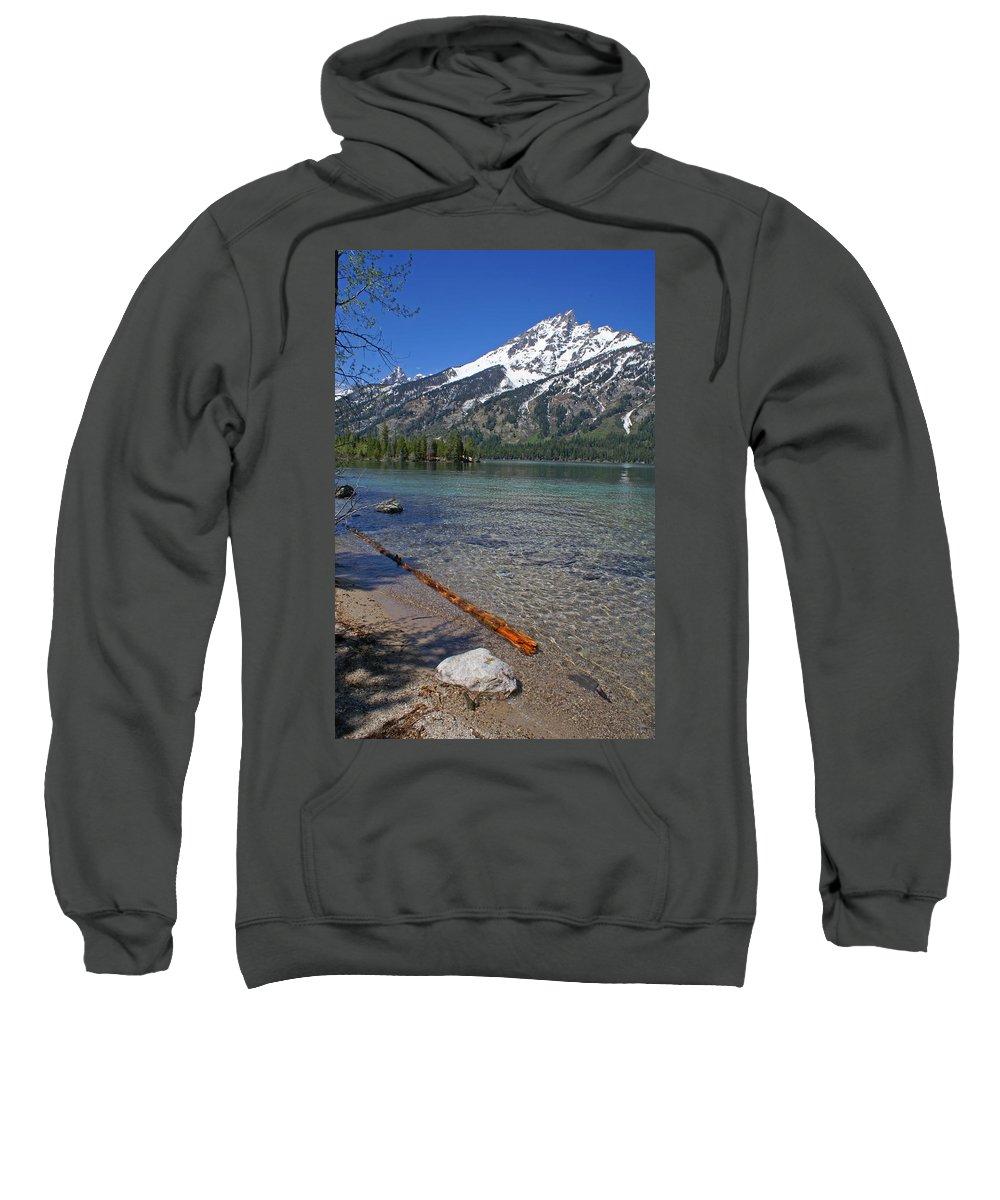 Grand Tetons Sweatshirt featuring the photograph Teewinot by Heather Coen