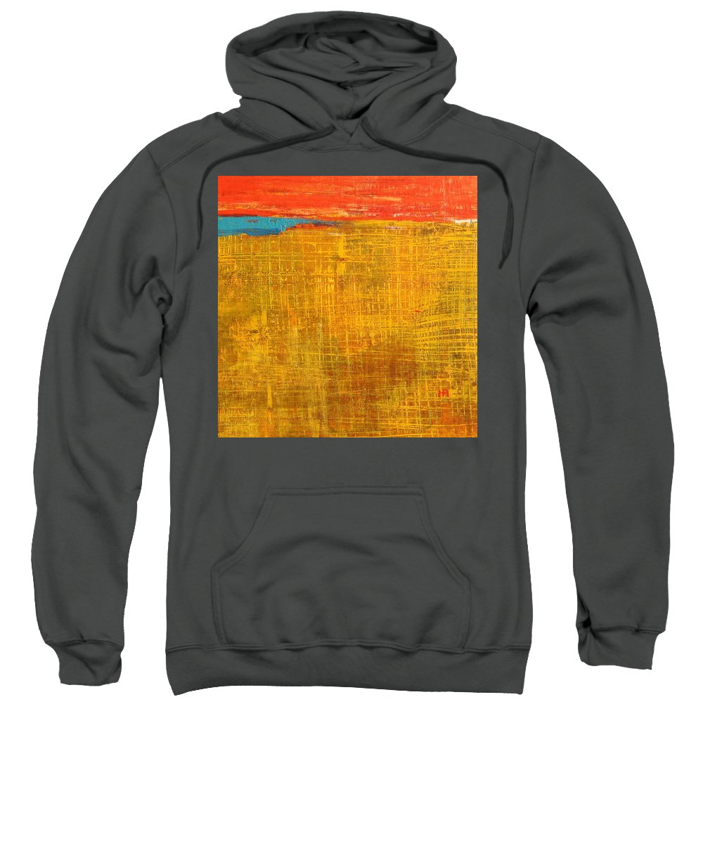 Abstract Sweatshirt featuring the painting Tell Me Something by Habib Ayat