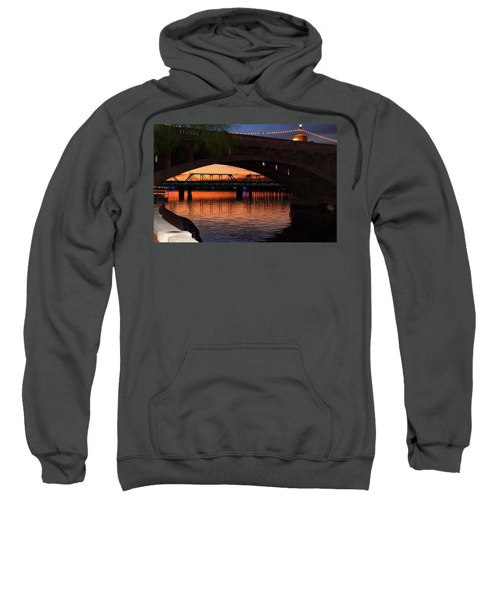 Tempe Bridges Sweatshirt featuring the photograph Tempe Bridges by Dawn Crichton