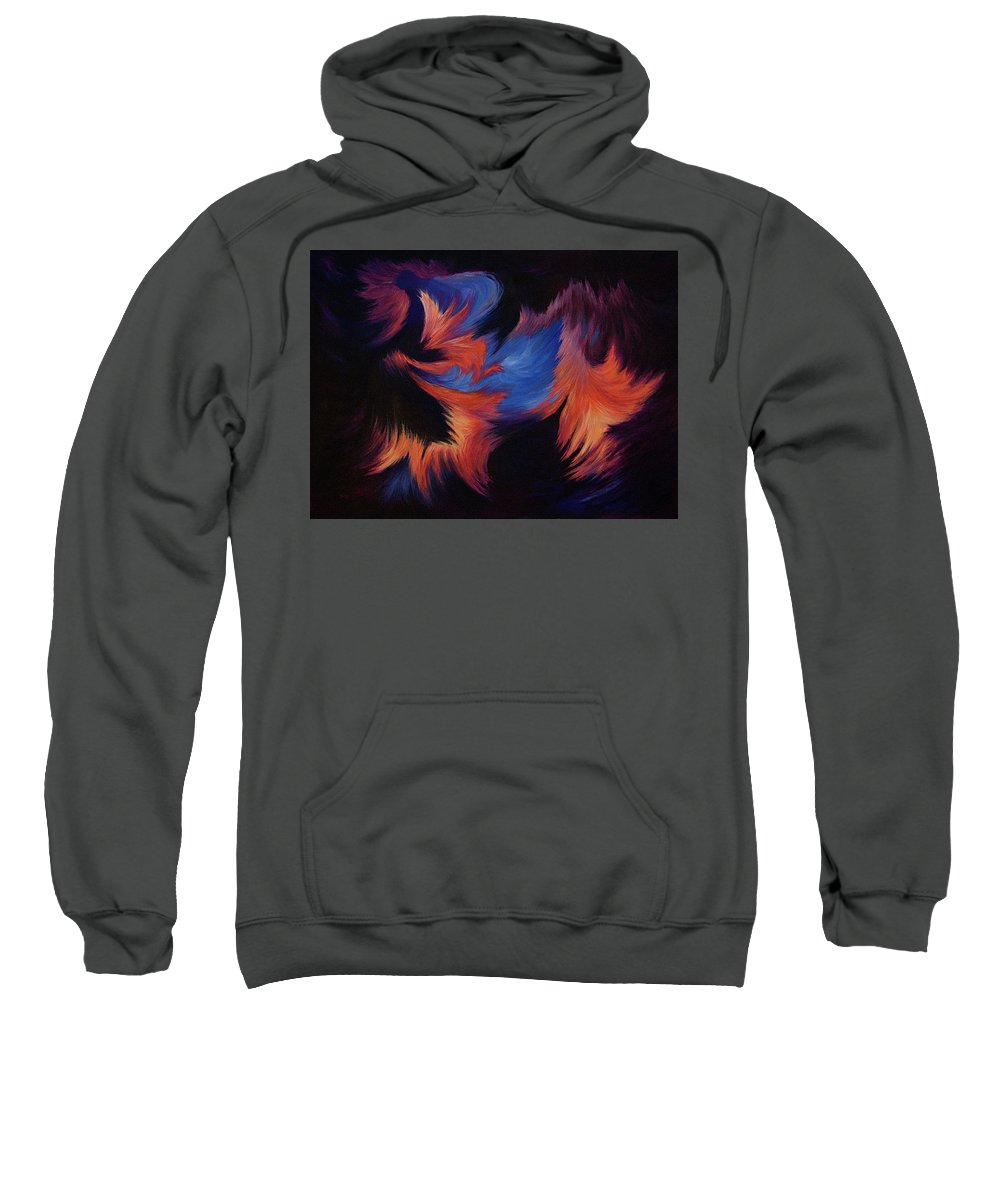 Abstract Sweatshirt featuring the painting Tempest by Rachel Christine Nowicki