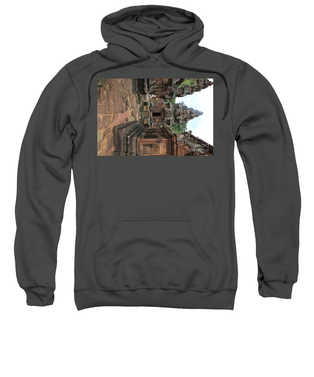 Siem Reap Sweatshirt featuring the photograph Temples Siem Reap Cambodia Worship by Chuck Kuhn