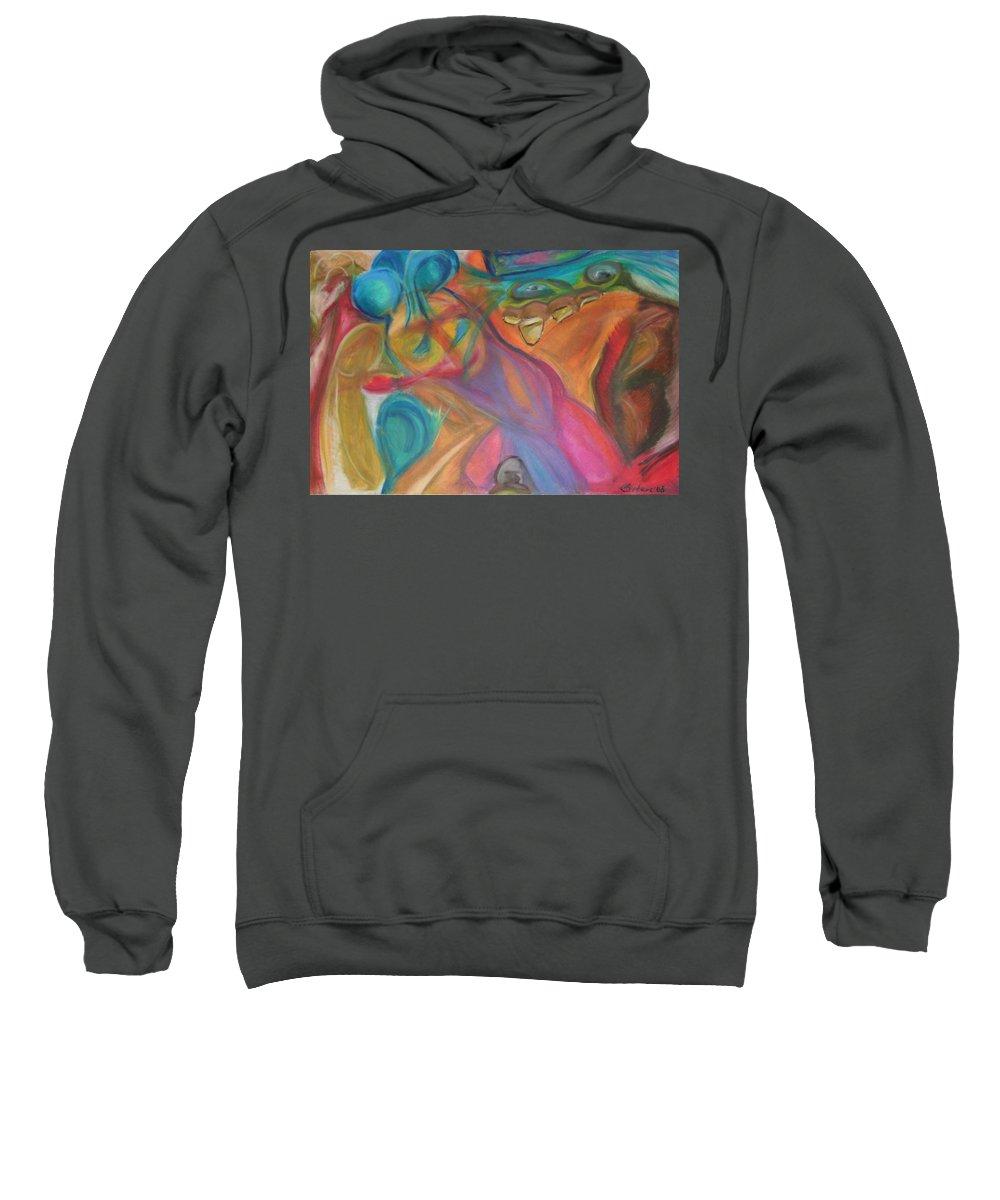 Sweatshirt featuring the pastel Temptation by Sitara Bruns