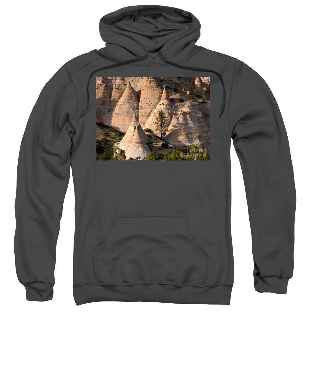 Tent Rocks Wilderness Sweatshirt featuring the photograph Tent Rocks Wilderness by David Lee Thompson