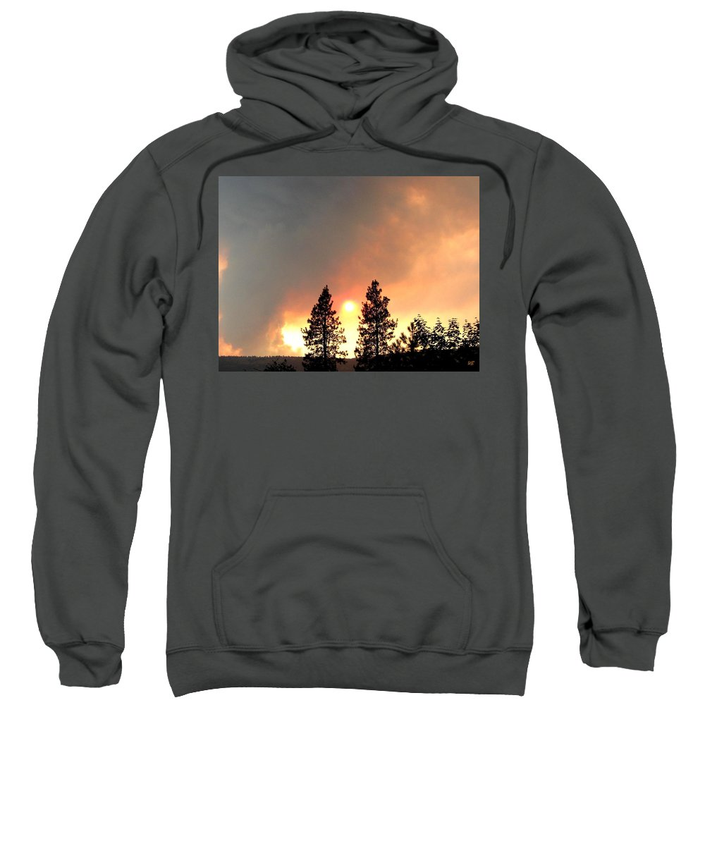 Forest Fire Sweatshirt featuring the photograph Terrace Mountain Fire 2 by Will Borden