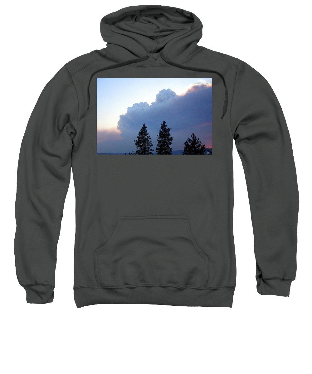 Terrace Mountain Smoke Sweatshirt featuring the photograph Terrace Mountain Smoke by Will Borden