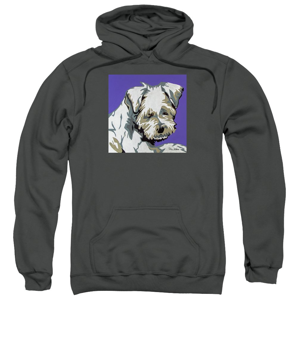 Terrier Sweatshirt featuring the painting Terrier Mix by Slade Roberts