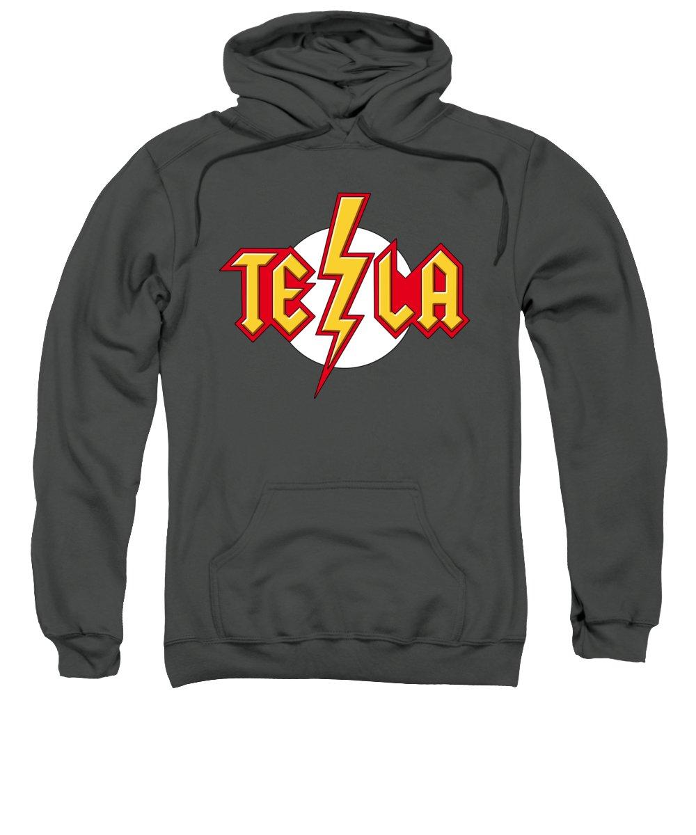 Tesla Sweatshirt featuring the digital art Tesla Bolt by Andre Koekemoer