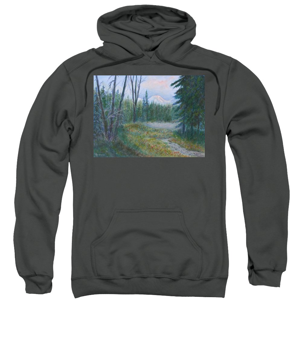 Landscape Sweatshirt featuring the painting Teton Valley by Ben Kiger