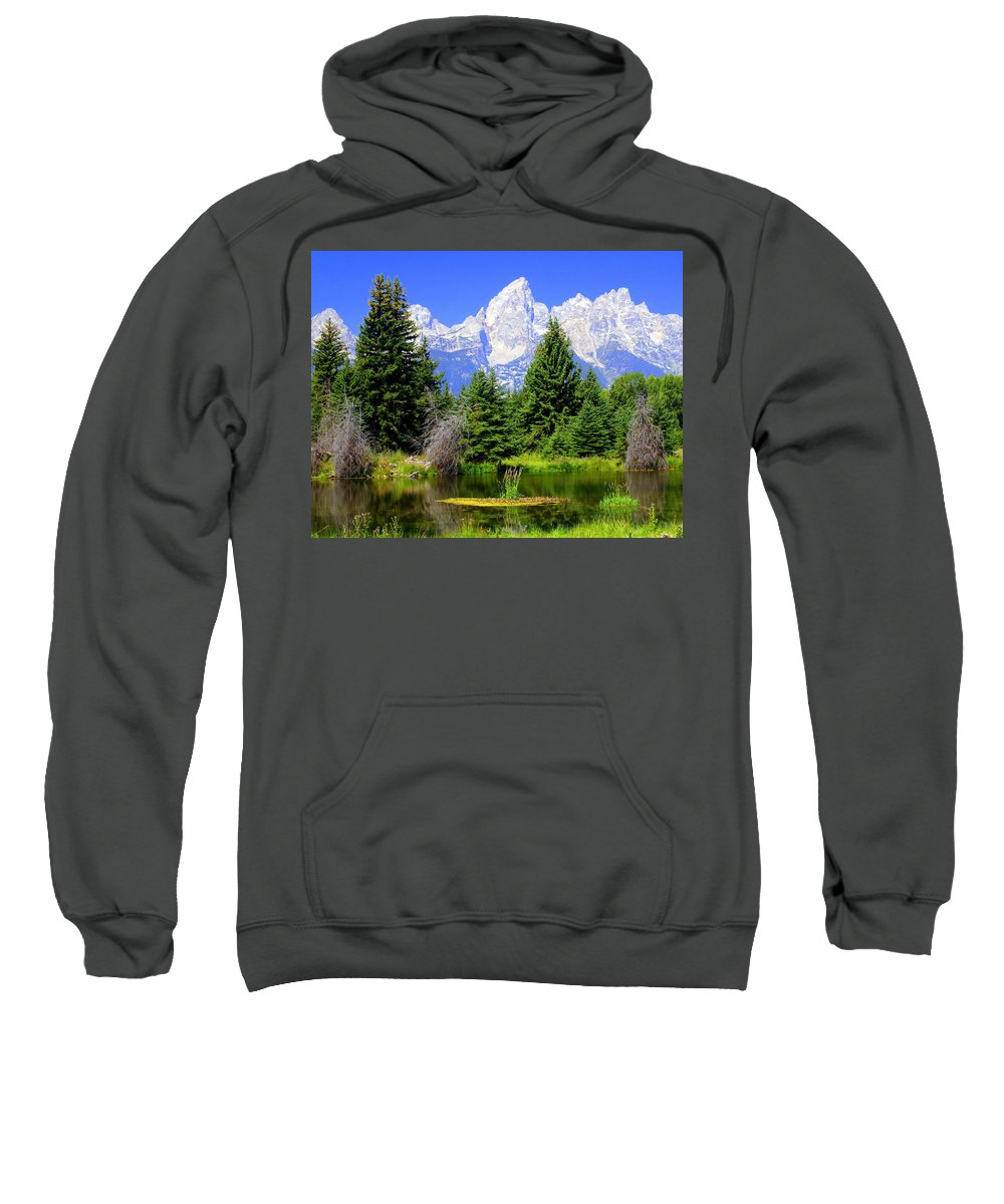 Grand Teton National Park Sweatshirt featuring the photograph Tetons 3 by Marty Koch