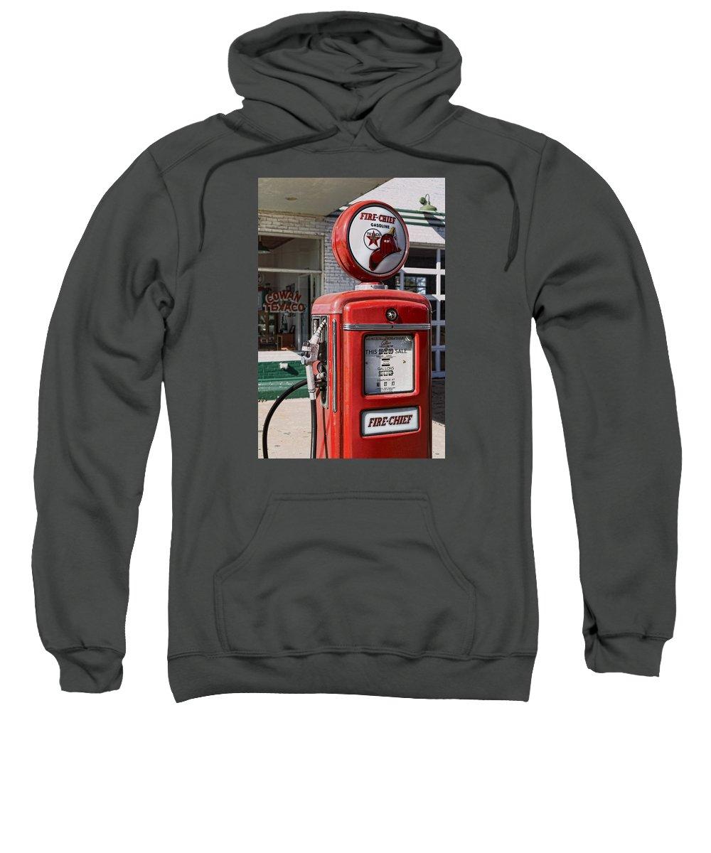 Texaco Sweatshirt featuring the photograph Texaco Fire-chief #1 by Stephen Stookey