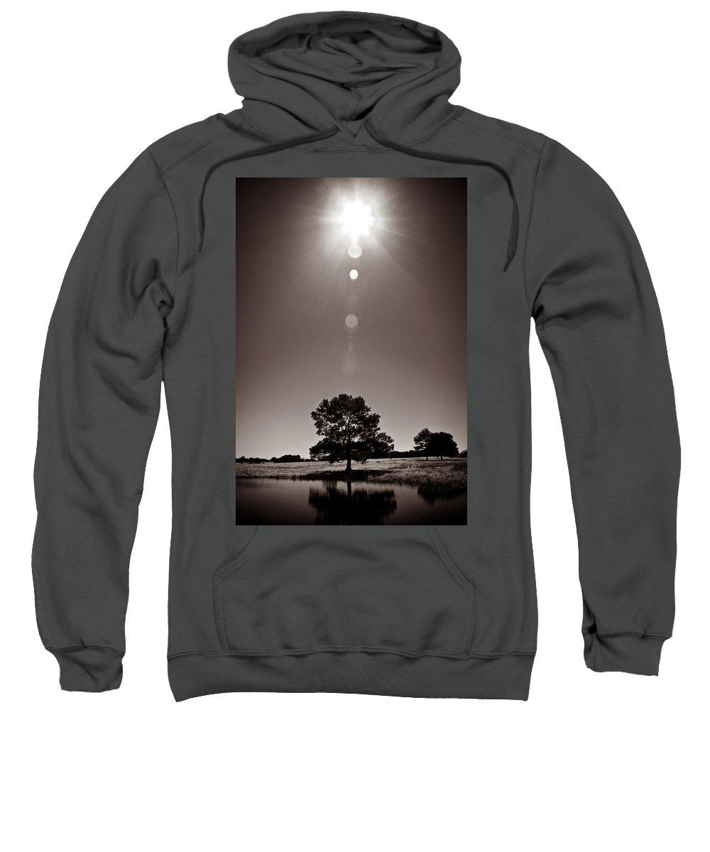 Texas Sweatshirt featuring the photograph Texan Sun by Dave Bowman