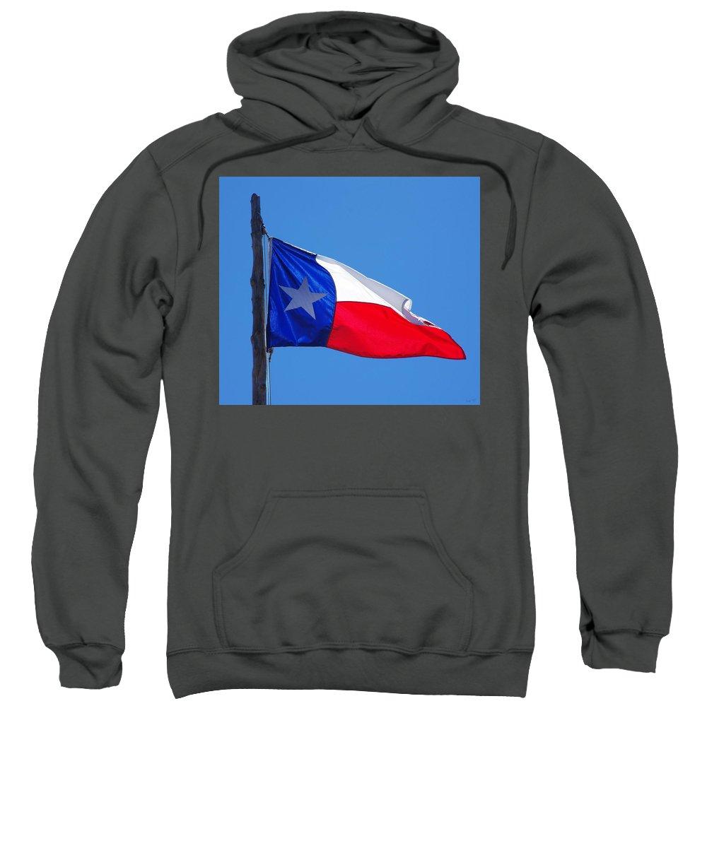 Texas Sweatshirt featuring the photograph Texas Flag by Gregg Cestaro