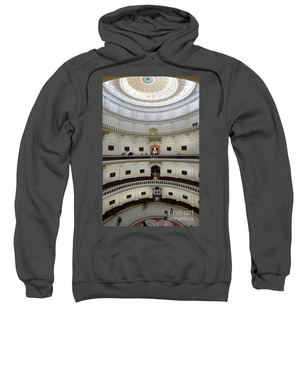 Austin Sweatshirt featuring the photograph Texas State Capital by Calvin Wehrle