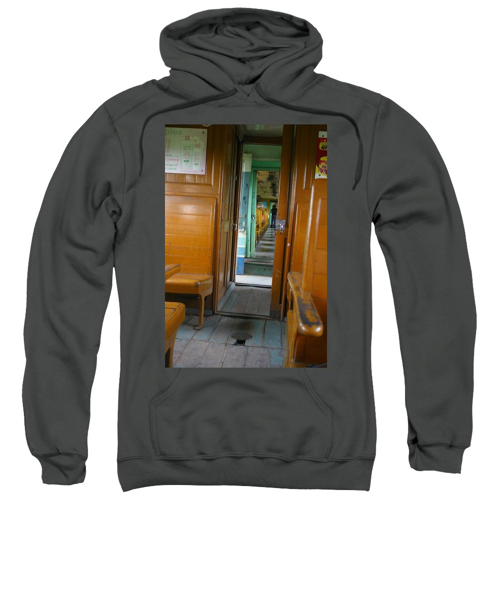 Train Sweatshirt featuring the photograph Thailand Train by Minaz Jantz