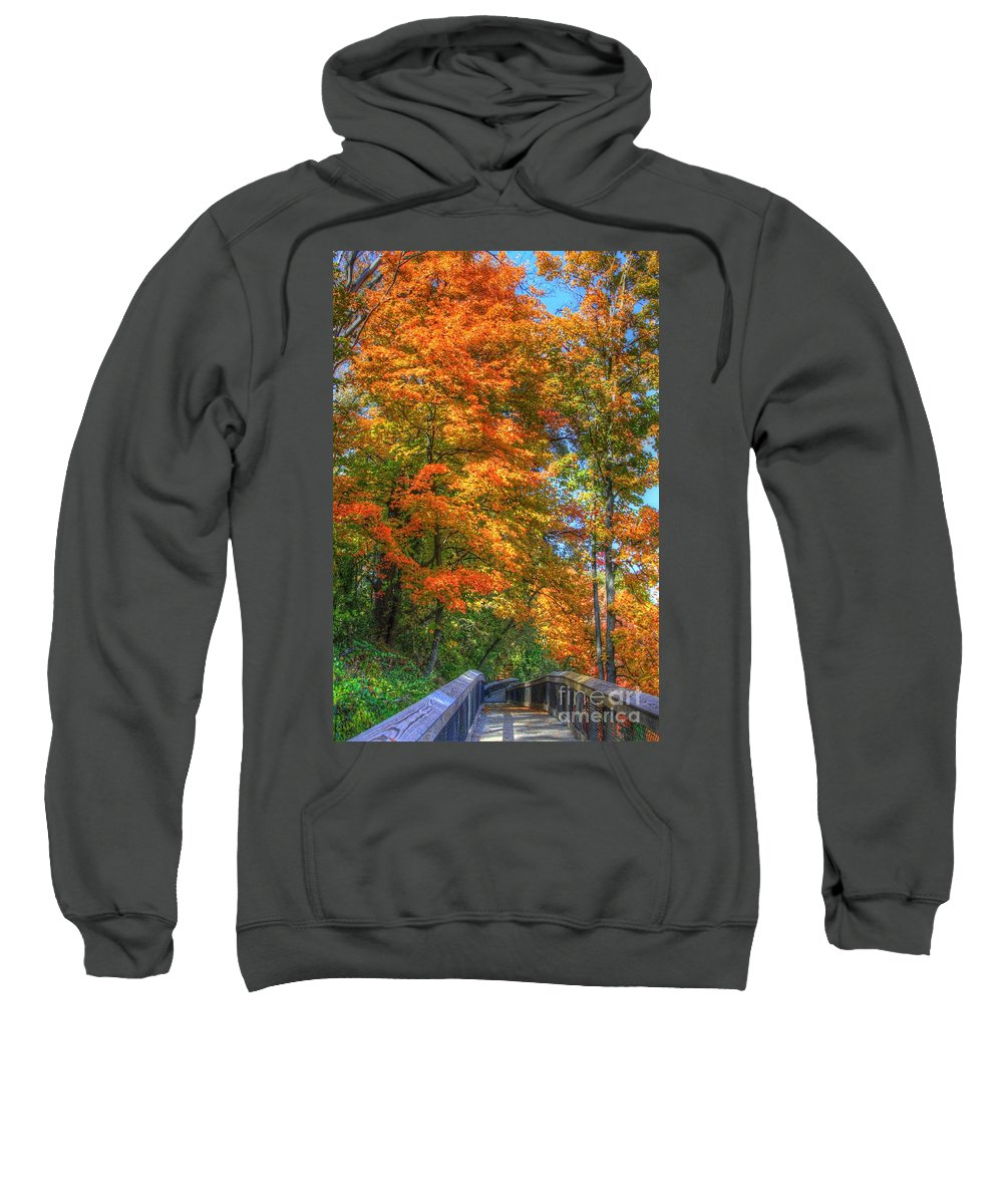 Fall Sweatshirt featuring the photograph That Special Walk by Robert Pearson