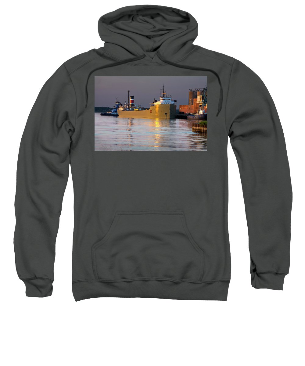 Photography Sweatshirt featuring the photograph The Alpena At Rest by Frederic A Reinecke