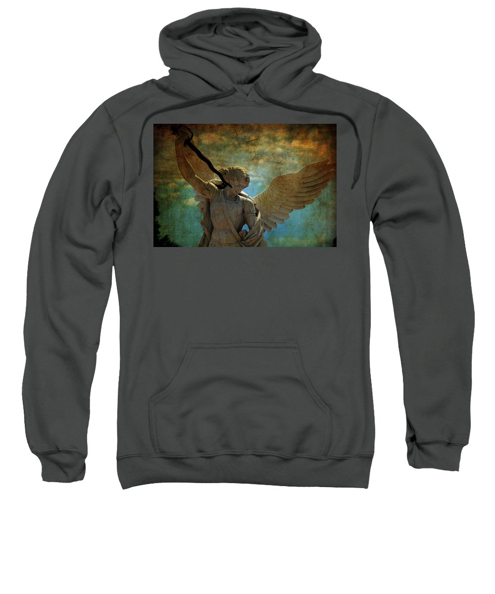 Angel Sweatshirt featuring the photograph The Angel Of The Last Days by Susanne Van Hulst