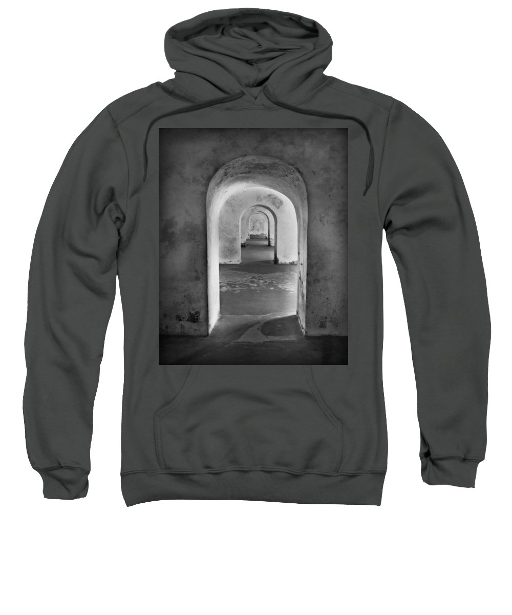 Arch Sweatshirt featuring the photograph The Arches 2 by Perry Webster