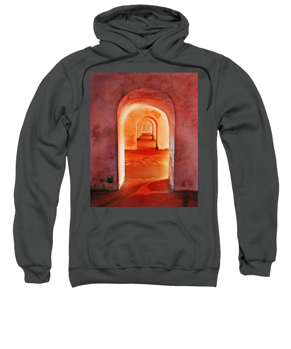 Arch Sweatshirt featuring the photograph The Arches by Perry Webster