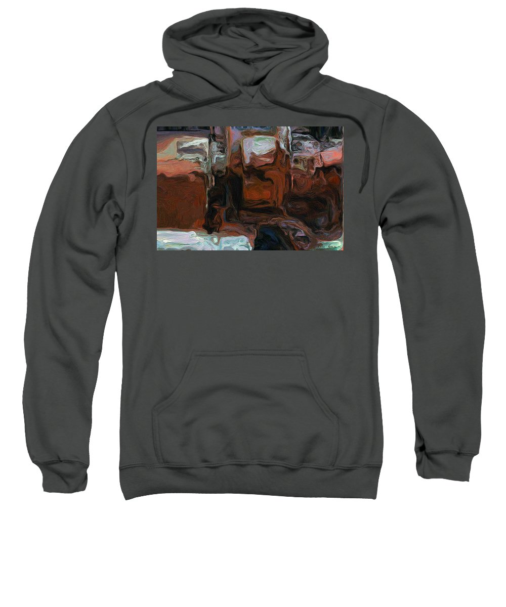 Sweatshirt featuring the digital art The Art Of The Machine by Rein Nomm