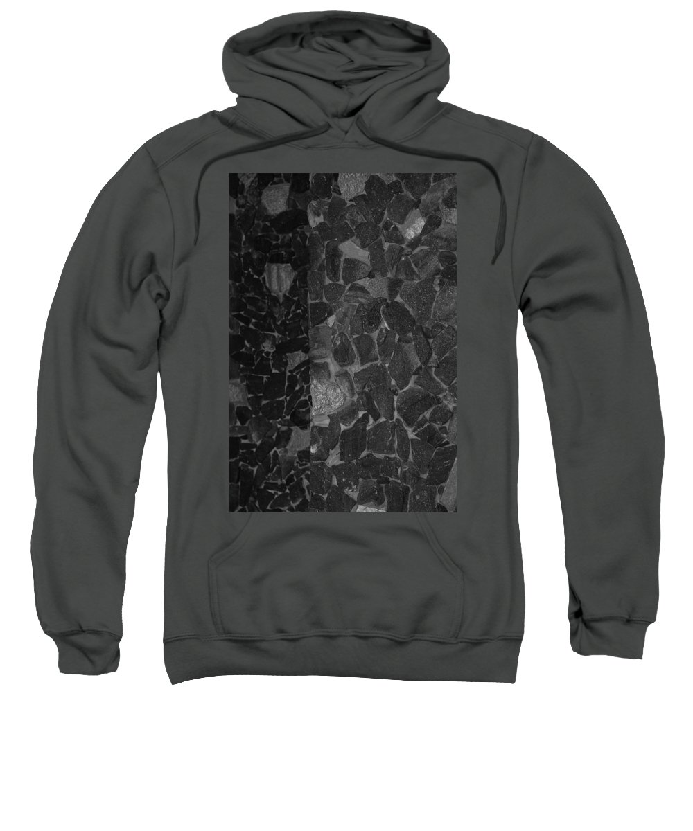 Black And White Sweatshirt featuring the photograph The B And W Wall by Rob Hans