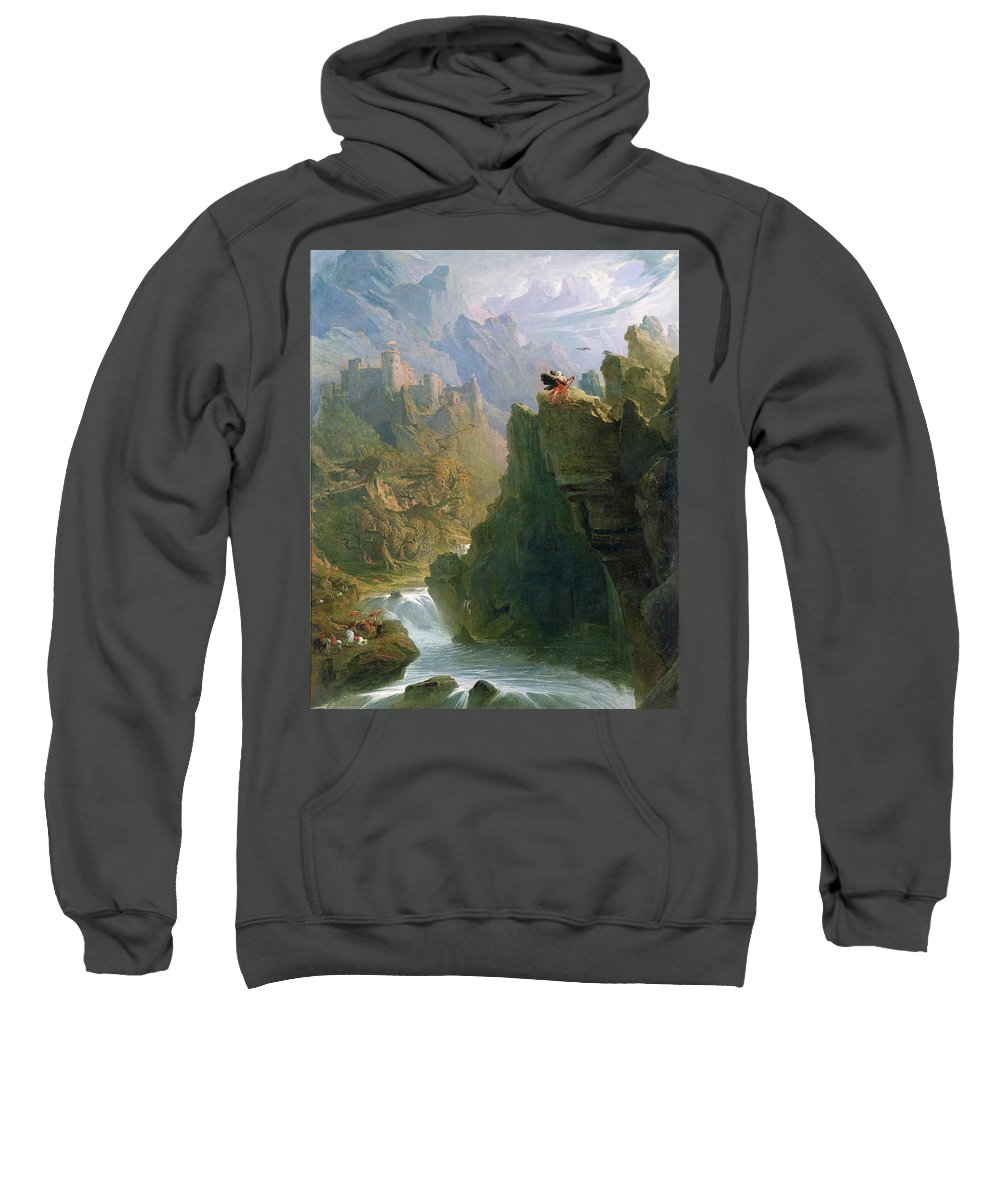 Xyc136233 Sweatshirt featuring the photograph The Bard by John Martin