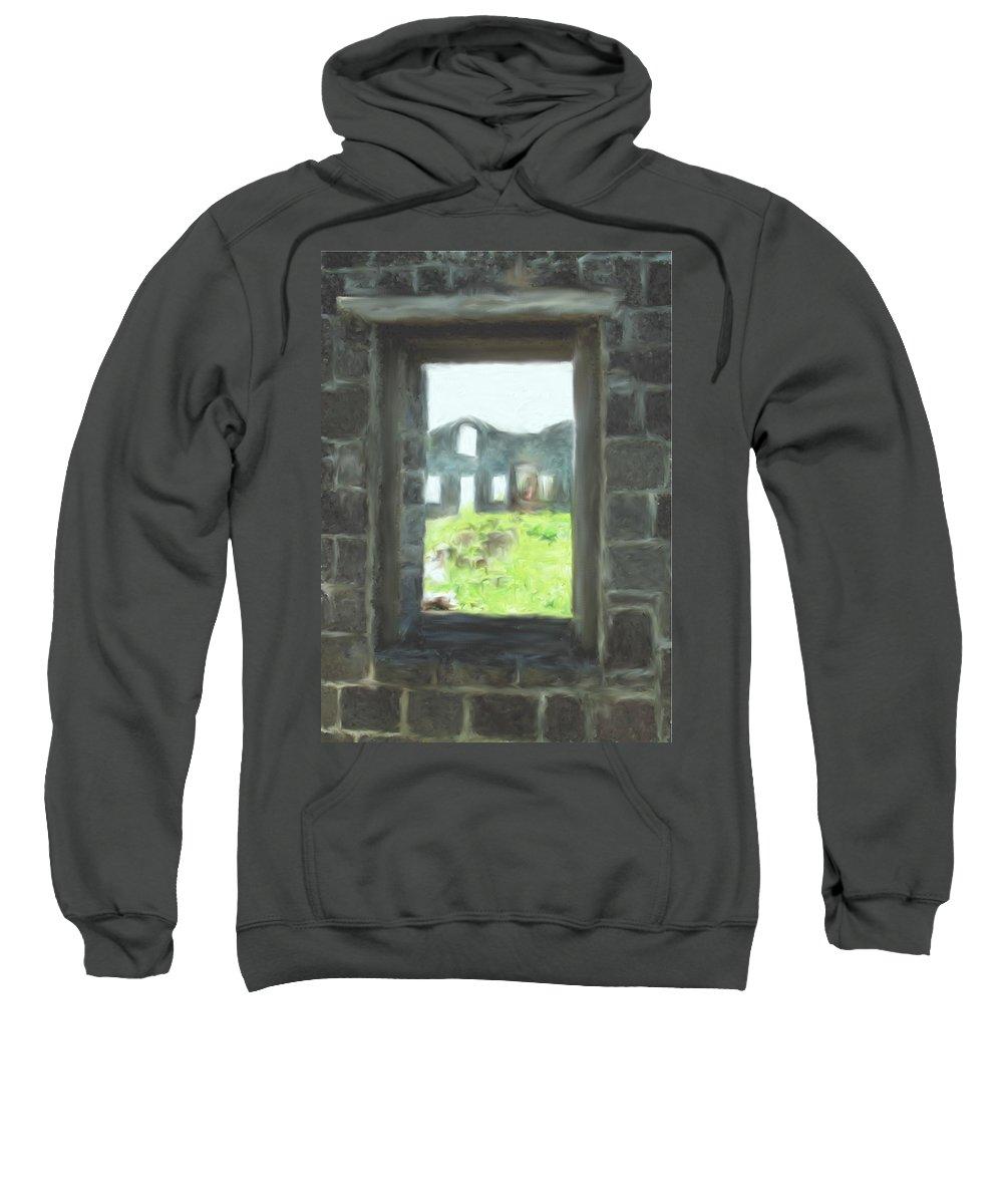 Brimstone Sweatshirt featuring the photograph The Barraks by Ian MacDonald