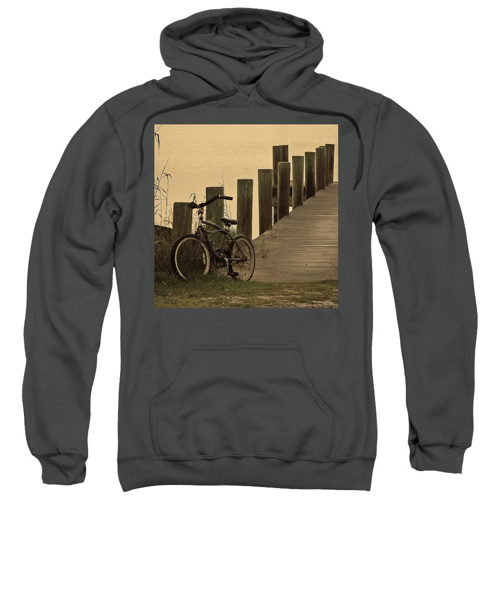 Bike Sweatshirt featuring the photograph The Beach Comber by Robert Meanor