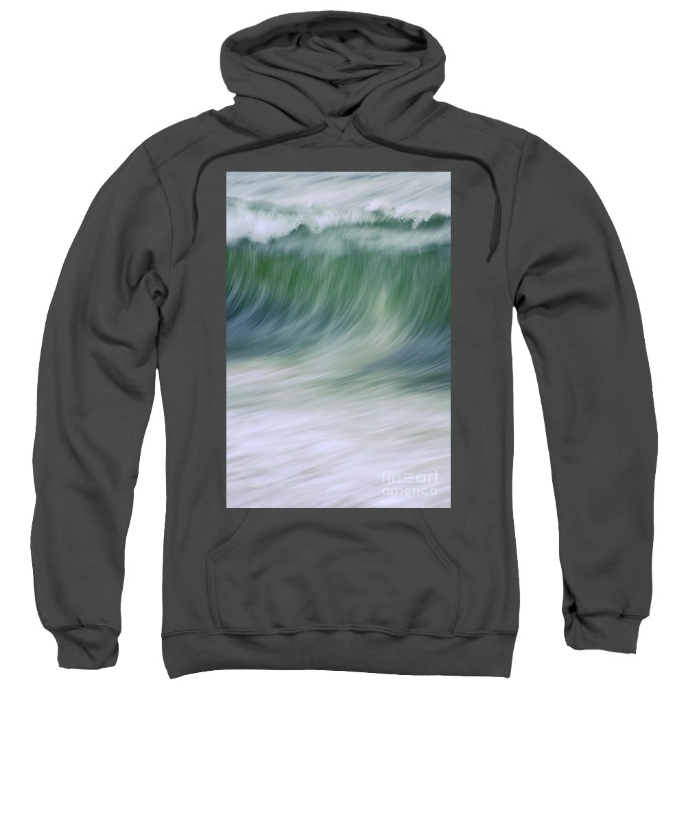 Waves Sweatshirt featuring the photograph The Beginning Curl by Jeanne McGee