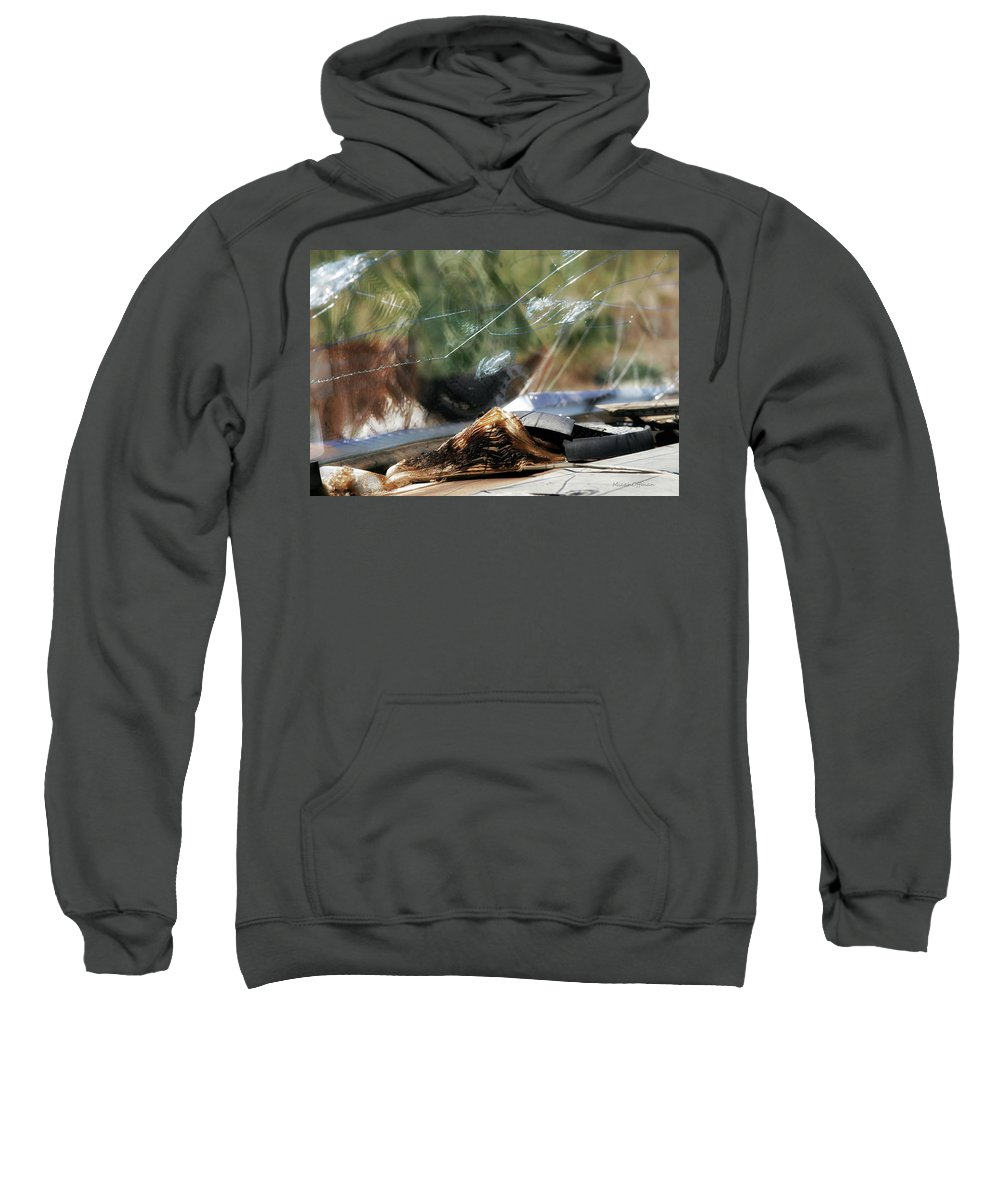 Rusty Car Sweatshirt featuring the photograph The Bible Still On The Dashboard 1 by Micah Offman