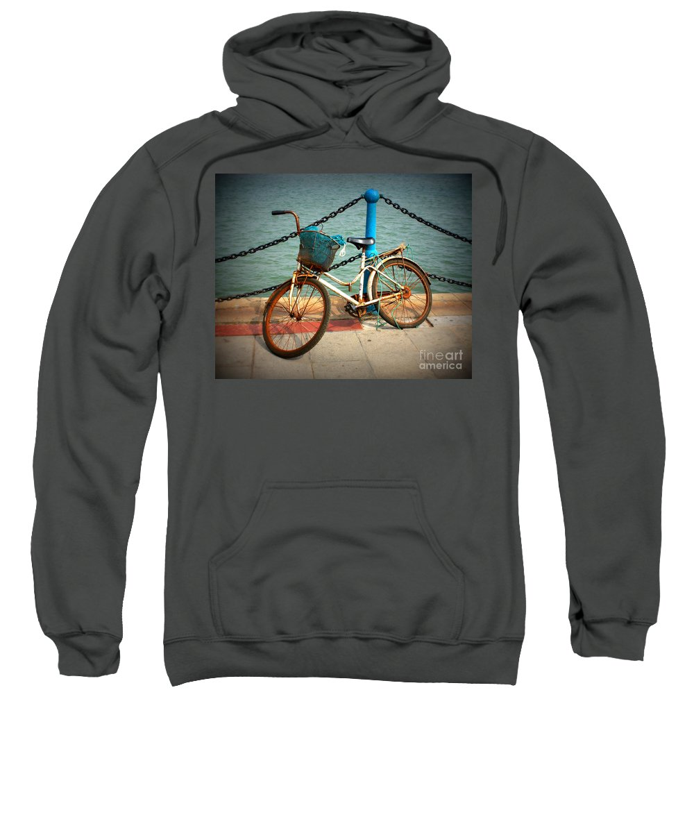 Stories Sweatshirt featuring the photograph The Bicycle by Carol Groenen