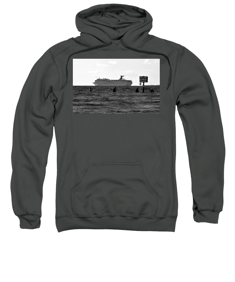 Fishing Sweatshirt featuring the photograph The Big Catch by David Lee Thompson
