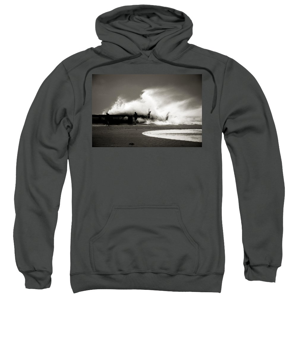 Surge Sweatshirt featuring the photograph The Big Surge by Susanne Van Hulst