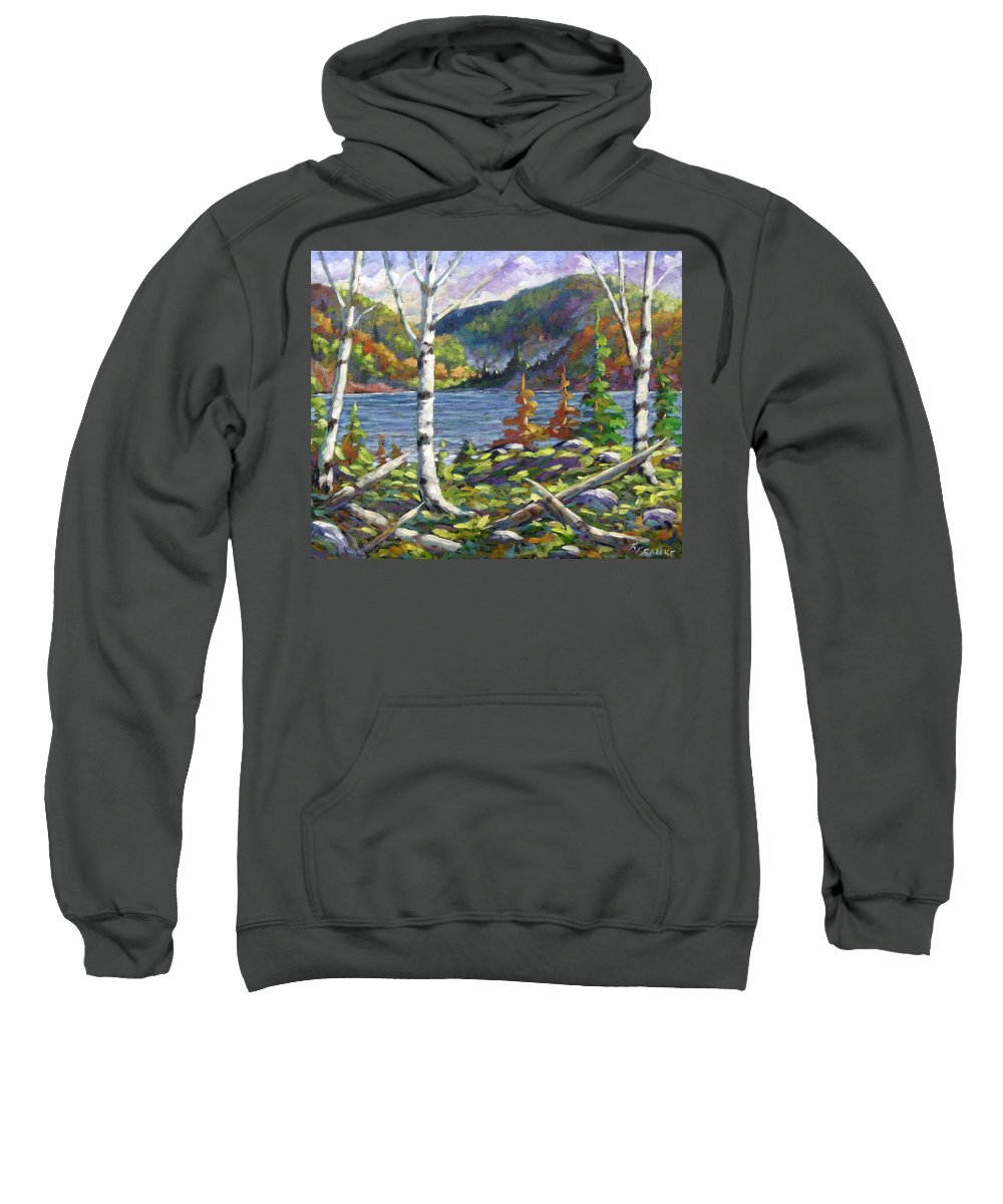 Art Sweatshirt featuring the painting The Birches by Richard T Pranke