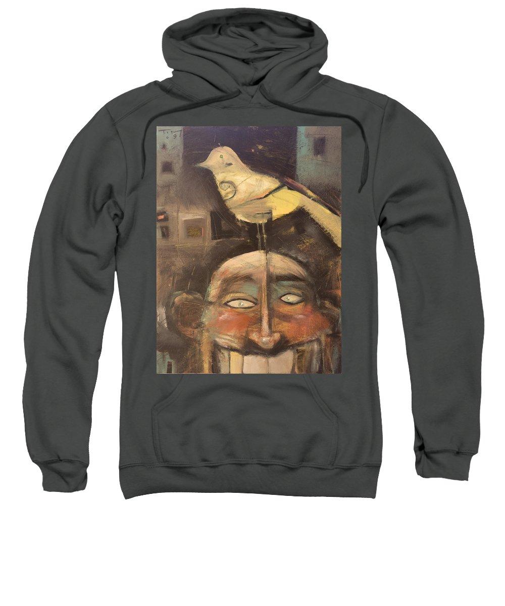 Bird Sweatshirt featuring the painting The Birdman Of Alcatraz by Tim Nyberg