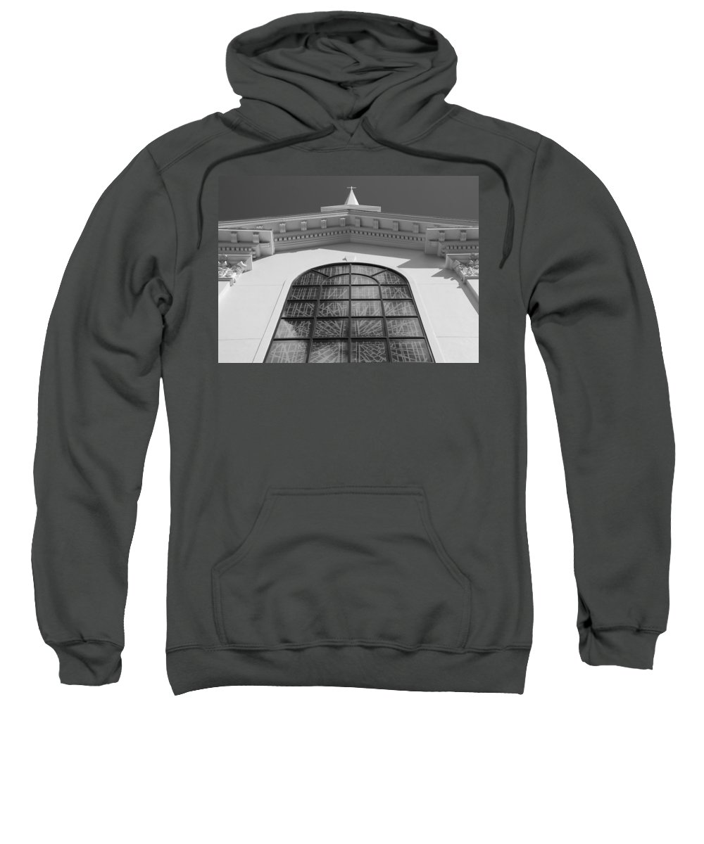 Church Sweatshirt featuring the photograph The Black And White Church by Rob Hans