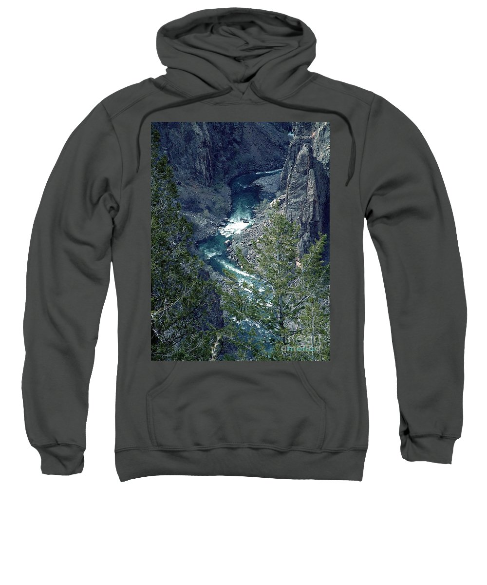 Canyon Sweatshirt featuring the painting The Black Canyon Of The Gunnison by RC DeWinter
