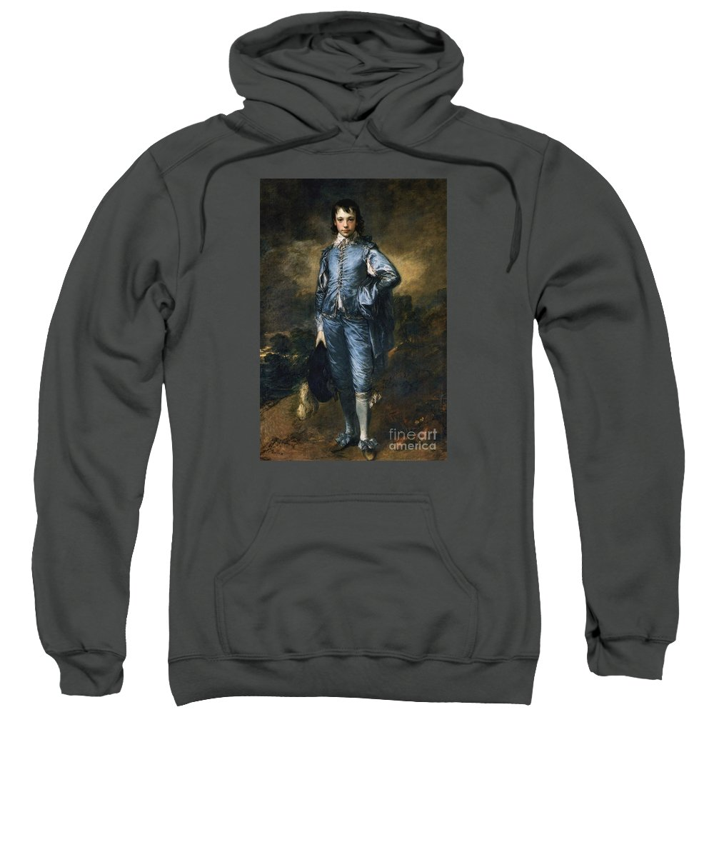 The Blue Boy Gainsborough Sweatshirt featuring the painting The Blue Boy by MotionAge Designs