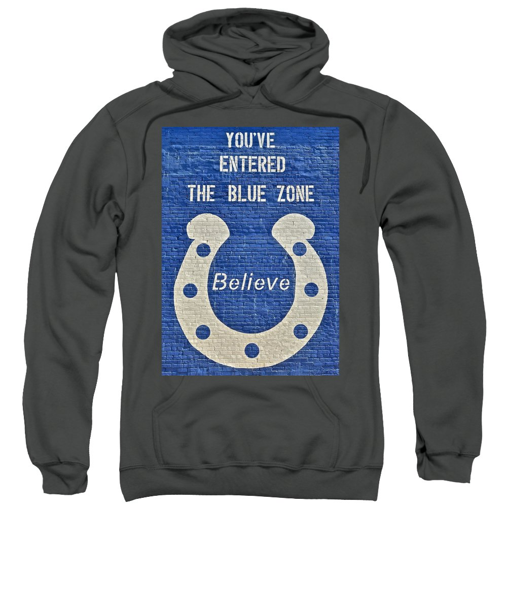 Indianapolis Sweatshirt featuring the photograph The Blue Zone by Frozen in Time Fine Art Photography