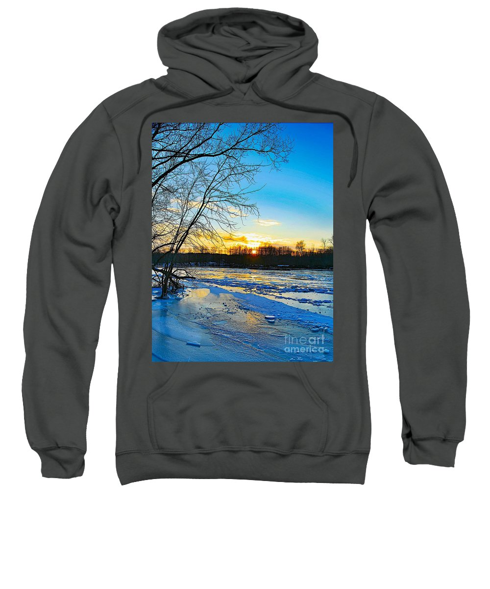 Snow Sweatshirt featuring the photograph The Blues Of Winter by Robert Pearson