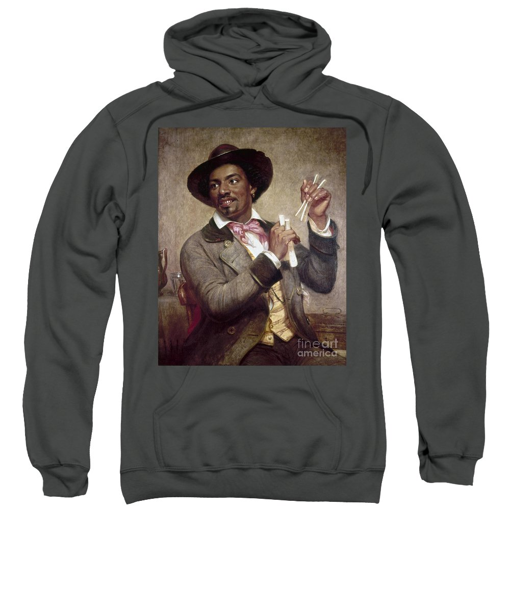 1856 Sweatshirt featuring the photograph The Bone Player, 1856 by Granger