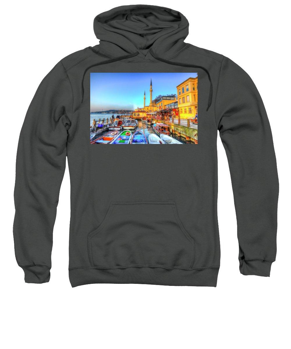 Istanbul Sweatshirt featuring the photograph The Bosphorus Istanbul by David Pyatt