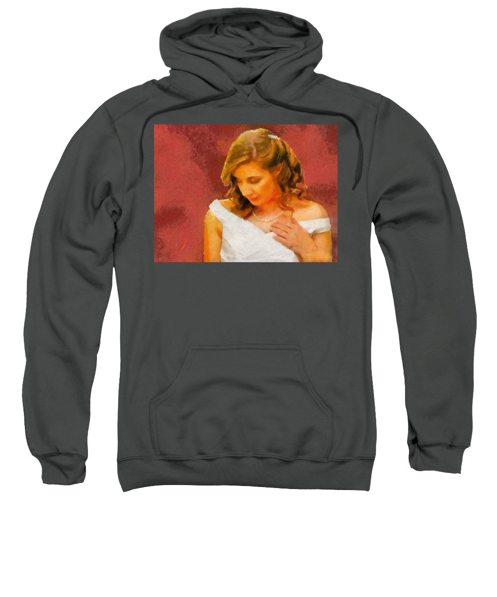 Wedding Sweatshirt featuring the painting The Bride To Be by Jeffrey Kolker