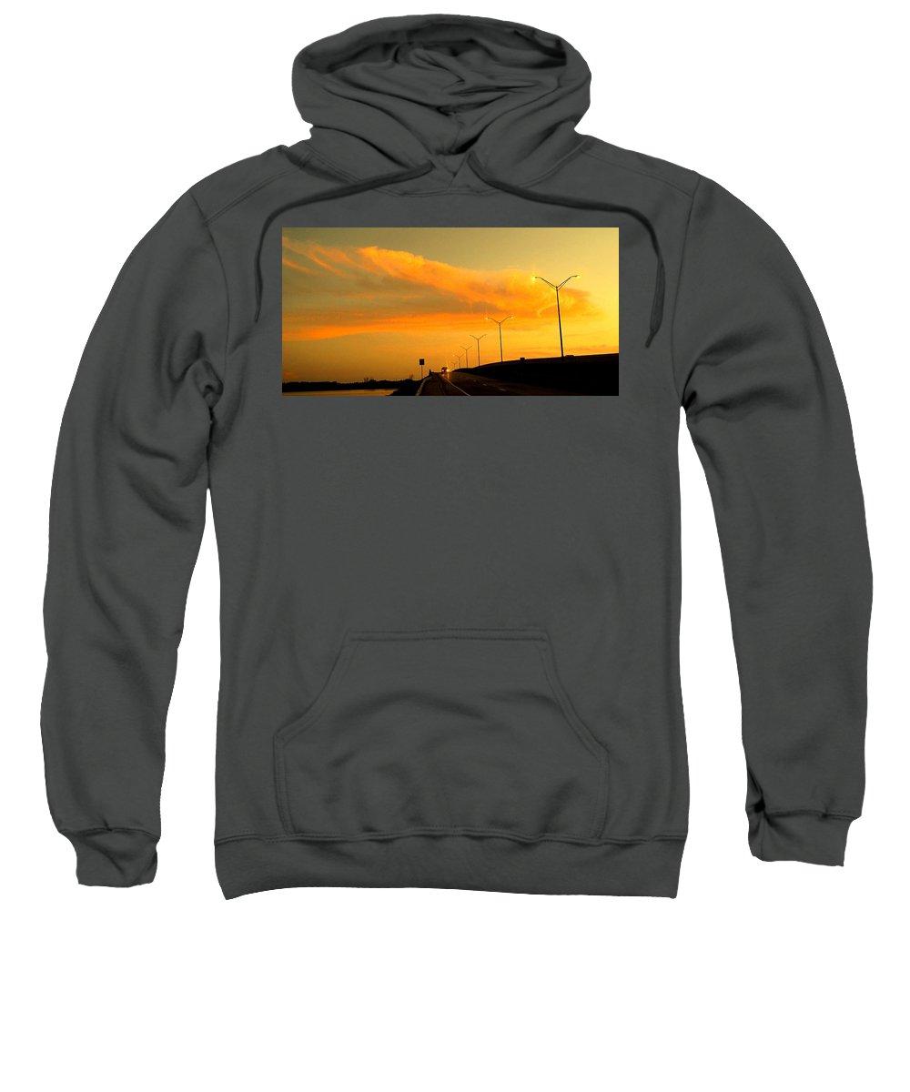 Sunset Sweatshirt featuring the photograph The Bridge At Sunset by Ian MacDonald