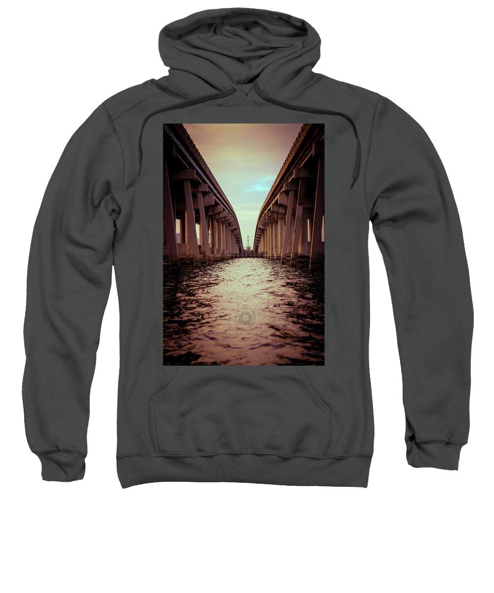 Photography Sweatshirt featuring the photograph The Bridge by Gaddeline Figueroa