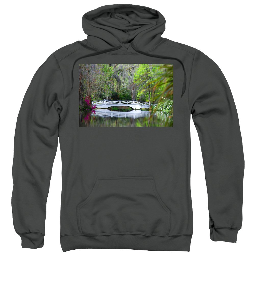 Photography Sweatshirt featuring the photograph The Bridges In Magnolia Gardens by Susanne Van Hulst