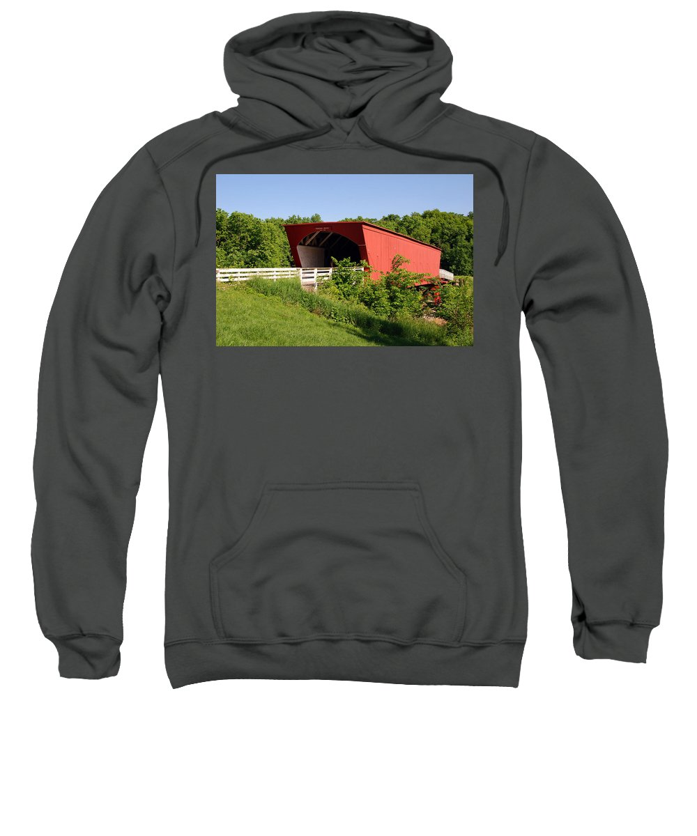 Photography Sweatshirt featuring the photograph The Bridges Of Madison County by Susanne Van Hulst