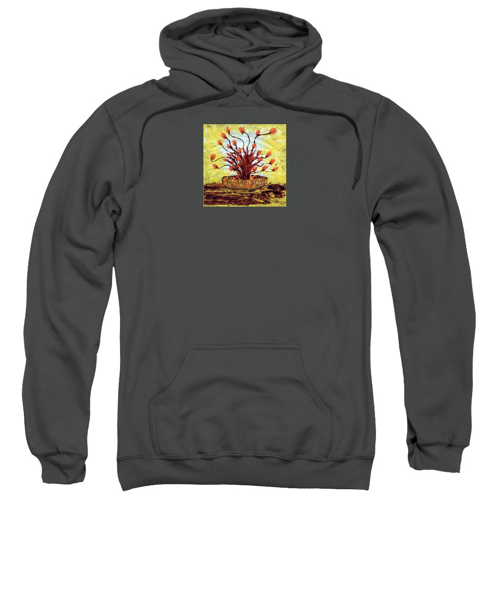Impressionist Painting Sweatshirt featuring the painting The Burning Bush by J R Seymour