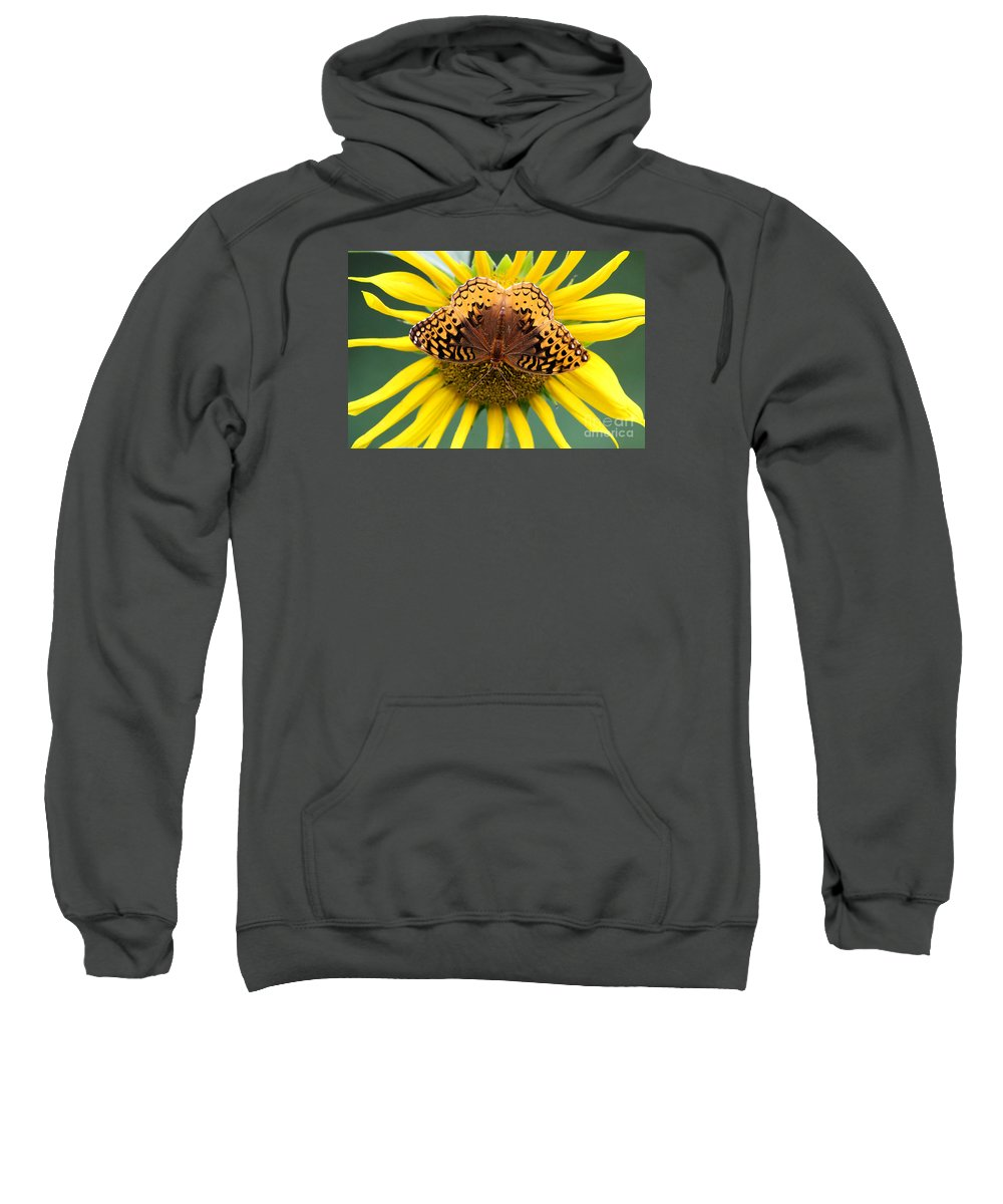 Butterfly Sweatshirt featuring the photograph The Butterfly Effect by Tina LeCour
